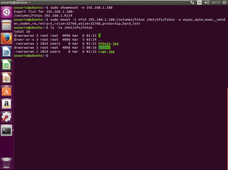 NFS en un servidor NAS Synology con clientes Linux(Ubuntu)